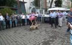 Polis aracı kurban kesilerek hizmete sokuldu