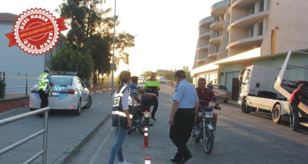 Çine'de Motosiklet Sürücülerine Operasyon