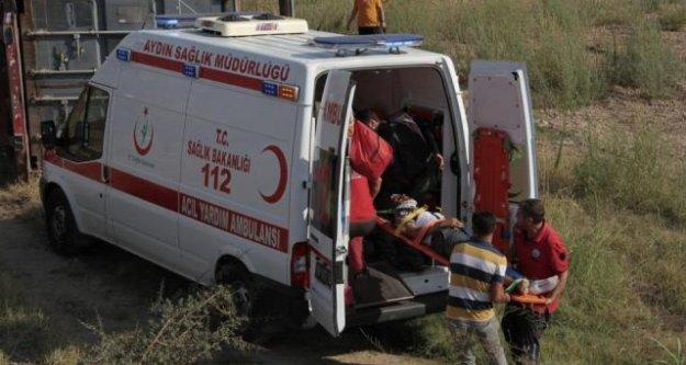 Aydın-ÇineYolunda Kaza: 1 Yaralı