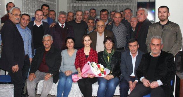 Ziraat Odası'dan, CHP İlçe Örgütüne Tebrik Ziyareti