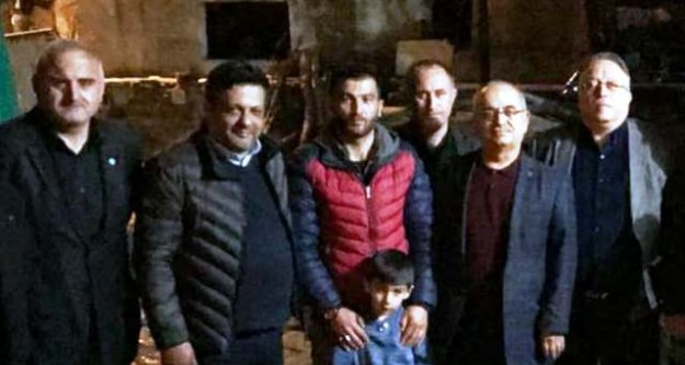 İYİ Parti Çine İlçe Başkanlığı, Afrin Gazisi Oktay'ı Ziyaret Etti
