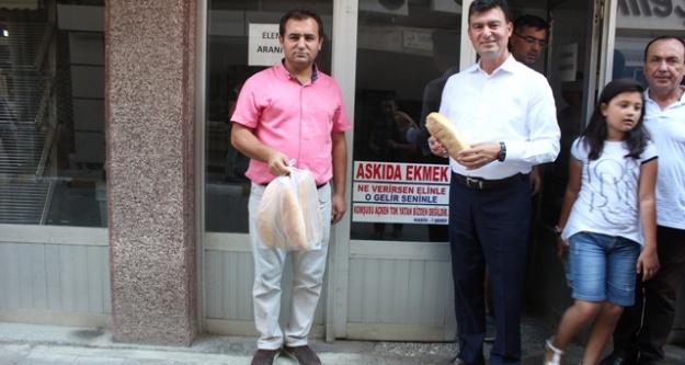 MHP Çine Teşkilatından #039;Askıda Ekmek#039; Projesine Destek