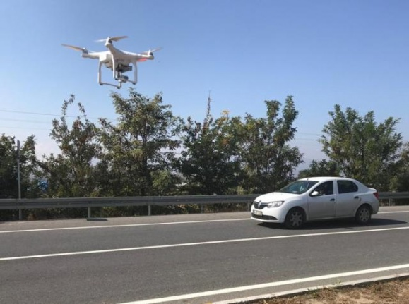 Trafik Drone ile Denetlendi