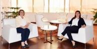CHP Kadın Kolları Genel Başkanı Köseden Başkan Çerçioğluna Ziyaret