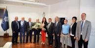 Esnaf Temcilsileri Başkan Çerçioğlunu Ziyaret Etti