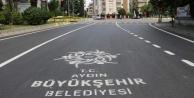 Asfalta Aydın Büyükşehir Logosu