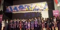 Çinede Uğur Öğrencileri Bayrağı 11. sınıflara teslim etti
