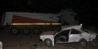 Otomobil  TIRa Arkadan Çarptı: 1 Yaralı