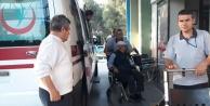 Çinede Motosiklet Kaldırıma Çarptı 1 Kişi Yaralandı
