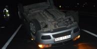 Çine#039;de Otomobil Takla Attı: 3 Yaralı