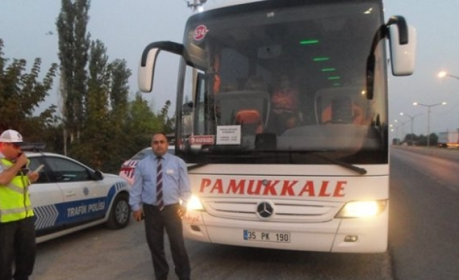 Çine'de Yolcu Otobüsleri Denetlendi