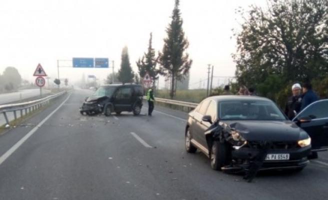 Hatalı sollama kazaya neden oldu: 1 yaralı