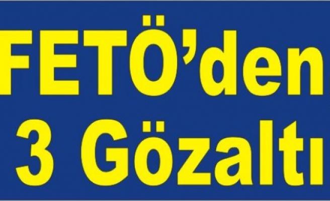 Üç İlçe'de  FETÖ Operasyonu; 3 gözaltı