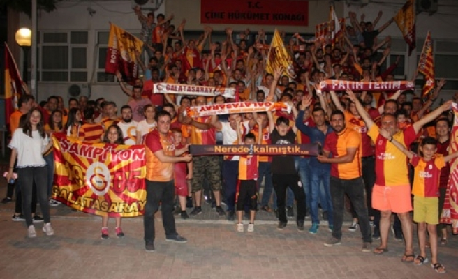 Çineli Galatasaraylılar Şampiyonluğu Kutladı