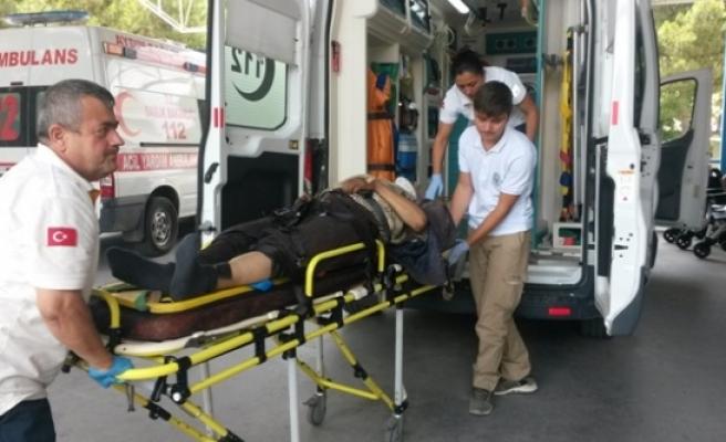 Çine'de Trafik Kazası; 1 Kişi Yaralı