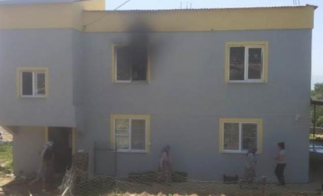 Patlayan Klima Yangın Çıkardı