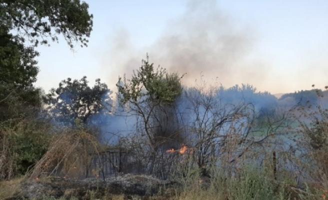 Karpuzlu'da Yangın