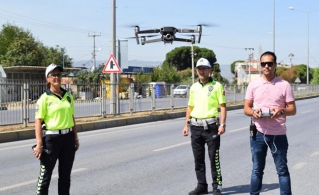 Çine'de Drone ile Yol Kontrolü Yaptılar