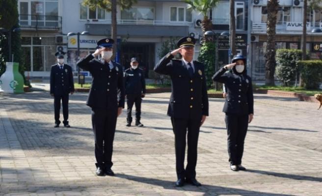 Çine'de Türk Polis Teşkilatı 175 Yılı Münasebetiyle Çelenk Sunumu Yapıldı