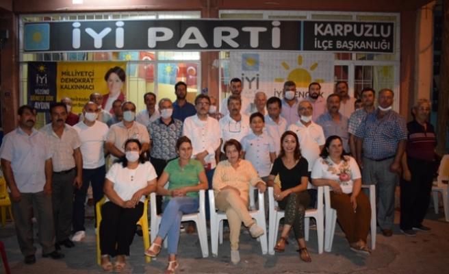 İYİ Parti İl Başkanı Demirci, Karpuzlu Teşkilatını Ziyaret Etti
