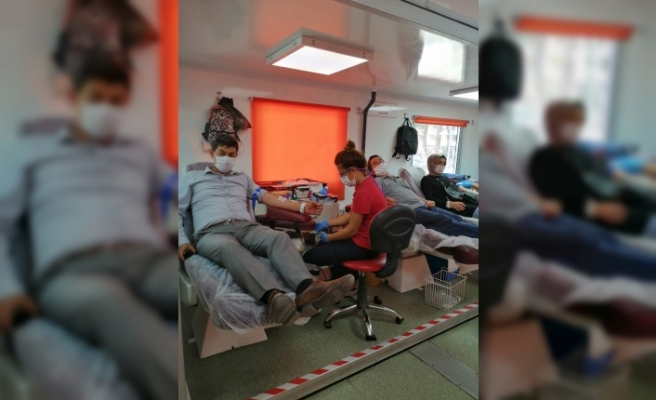 Başkanlardan kan bağışına destek