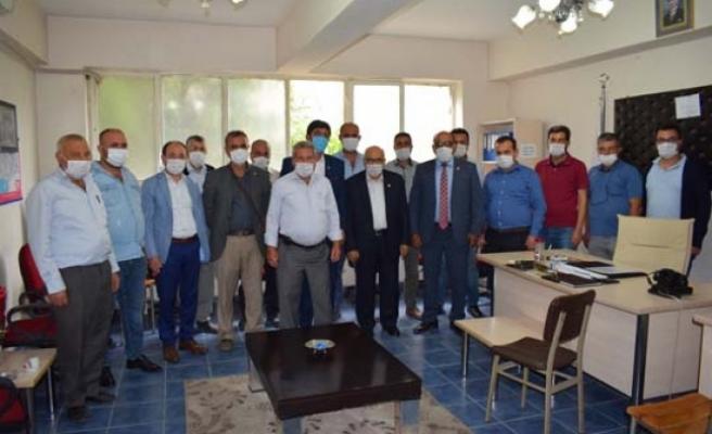 Çine MHP Heyeti Muhtarları Ziyaret