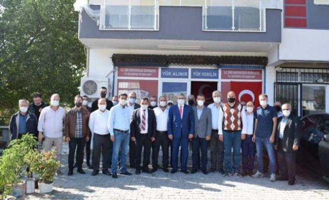 MHP Aydın İl Yönetimi Çine'de ziyaretlerde bulundu