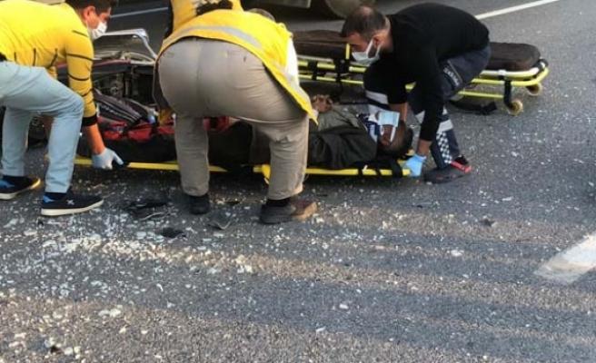 Çine'de kaza; 1 Yaralı