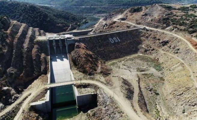 Gökbel Barajı'nda su tutulmaya başlandı