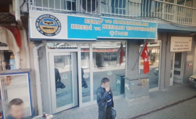 Çine Esnaf Kefalet Kredi Kooperatifi binası karantinaya alındı