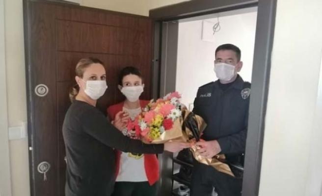 Çine İlçe Emniyet'i, Ayşegül'ün Gününü kutladı