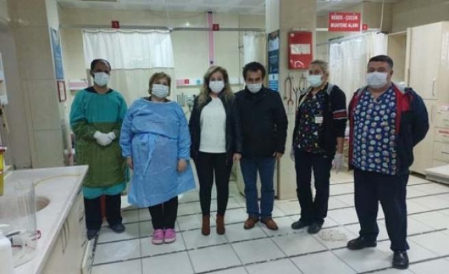 Çine MHP'den filyasyon ekiplerine destek