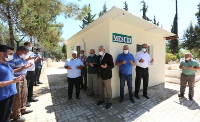 Başkan Atay Kemer Mezarlığı'na Mescit Kazandırdı