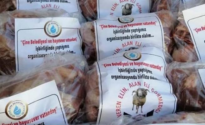 Belediye, Kurban etlerini ihtiyaç sahiplerine dağıttı
