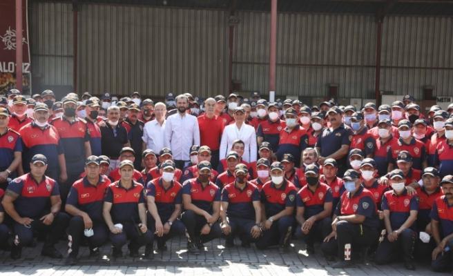 Başkan Çerçioğlu Kahraman Ateş Savaşçılarını Ziyaret Etti