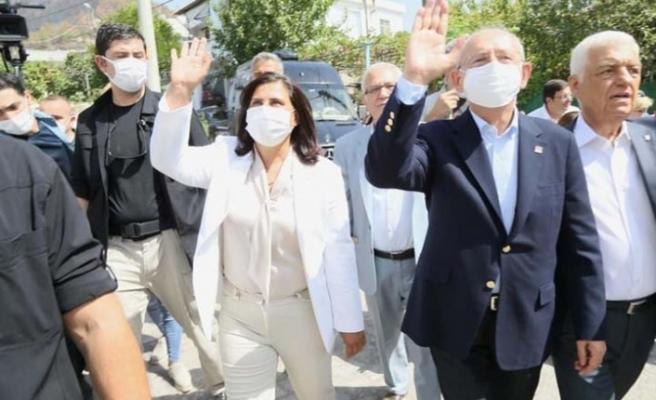 Çerçioğlu, Kılıçdaroğlu ile yangınzedeleri ziyaret etti