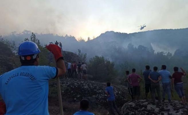 Karpuzlu'daki yangın kontrol altına alındı
