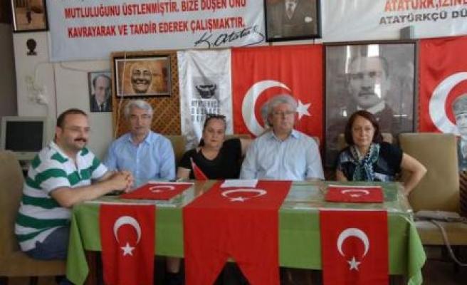 Add Aydın Şubesi Atatürk Heykellerine Yapılan Saldırıları Protesto Etti.