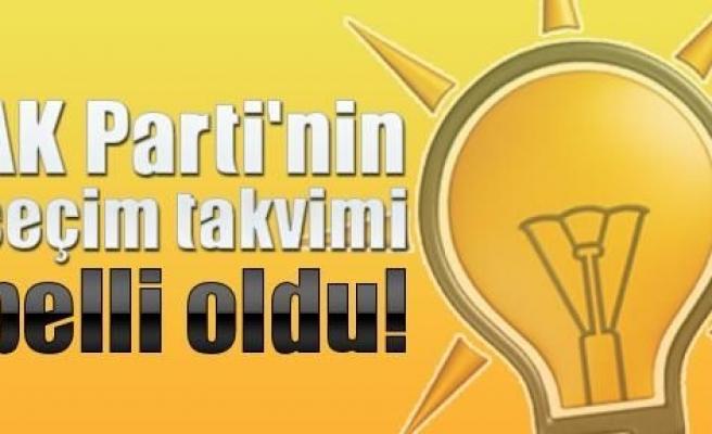 AK Parti'de seçim takvimi belli oldu!