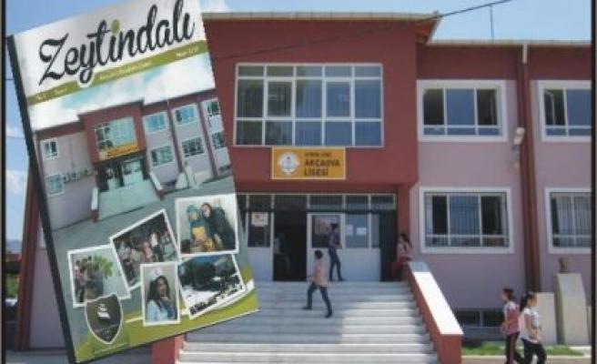 """Akçaova Lisesi, """"Zeytin Dalı"""" dergisini çıkardı"""