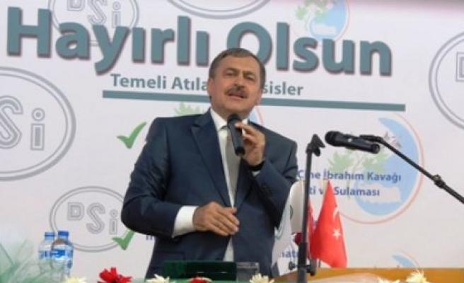 Bakan Eroğlu Çine'de temel attı