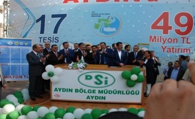 Bakan Eroğlu'ndan Aydın'a 49 milyon liralık yatırım müjdesi