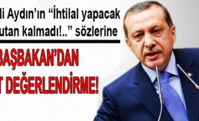 Başbakan CHP'li Aydın'ın sözlerini değerlendirdi