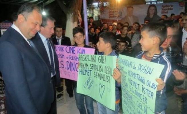 Başkan Dinçer'e, Mutaflar'da görkemli karşılama