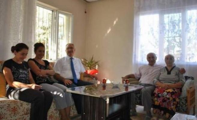 Başkan Kale'den Gazilere Ziyaret