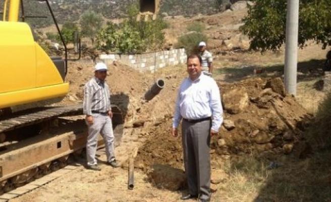 Çine'de köylerde de kanalizasyon çalışmaları başladı