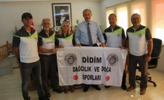 Didim Dağcılık ve Doğa sporcuları Kulübü üyelerinden Başkanımız A.Deniz Atabay'a ziyaret