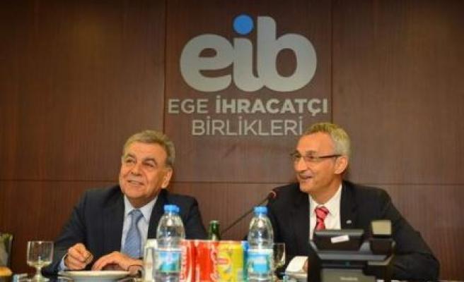 EİB, İzmir Büyükşehir Belediye Başkanı Aziz Kocaoğlu'nu Ağırladı