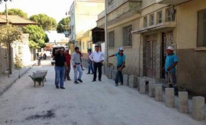 Germencik Belediyesi yol ve Kaldırım çalışmalarına Hız verdi