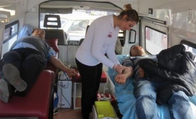 Kızılay Kan Bağışı İçin Çine'deydi